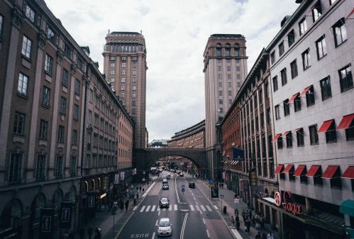 bastien herve har tagit detta foto av stockholm kungsgatan